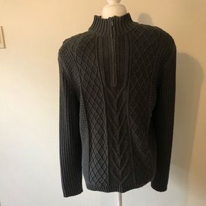 "Express Gray Men""s Sweater Size M"